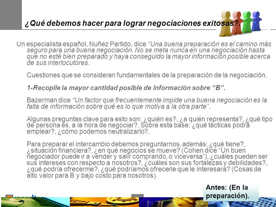 16 ¿Qué debemos hacer para lograr negociaciones exitosas .