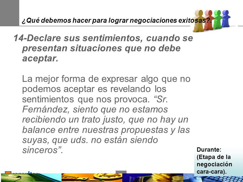 30 ¿Qué debemos hacer para lograr negociaciones exitosas .