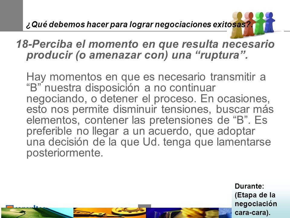 34 ¿Qué debemos hacer para lograr negociaciones exitosas .
