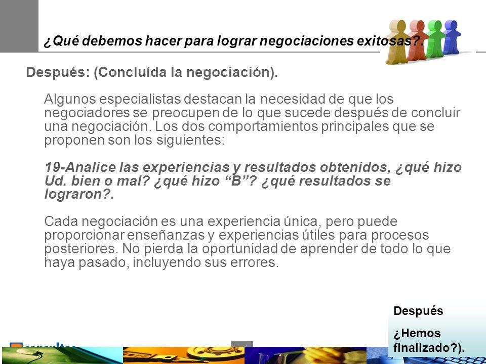 35 ¿Qué debemos hacer para lograr negociaciones exitosas .