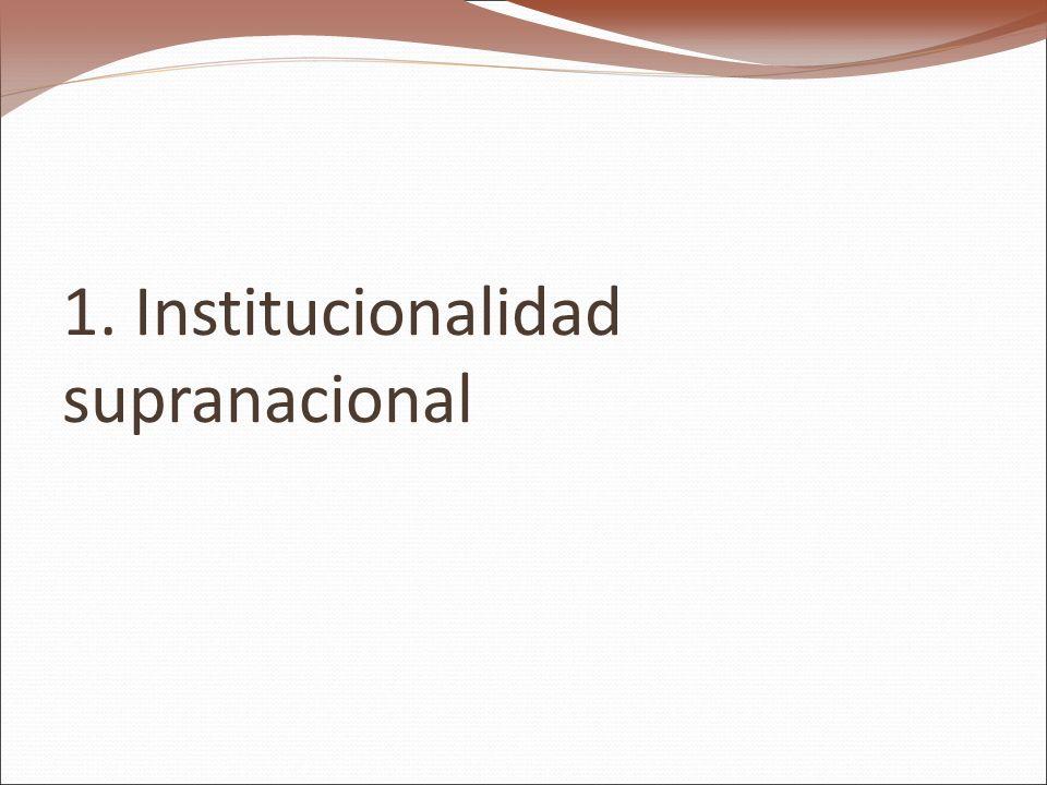 1. Institucionalidad supranacional