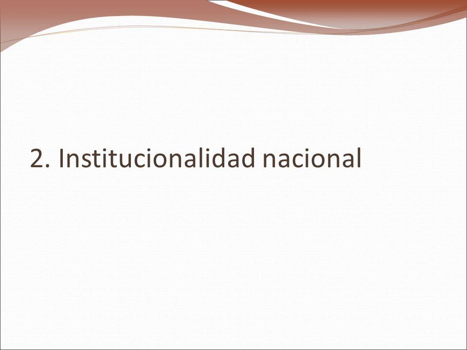 2. Institucionalidad nacional