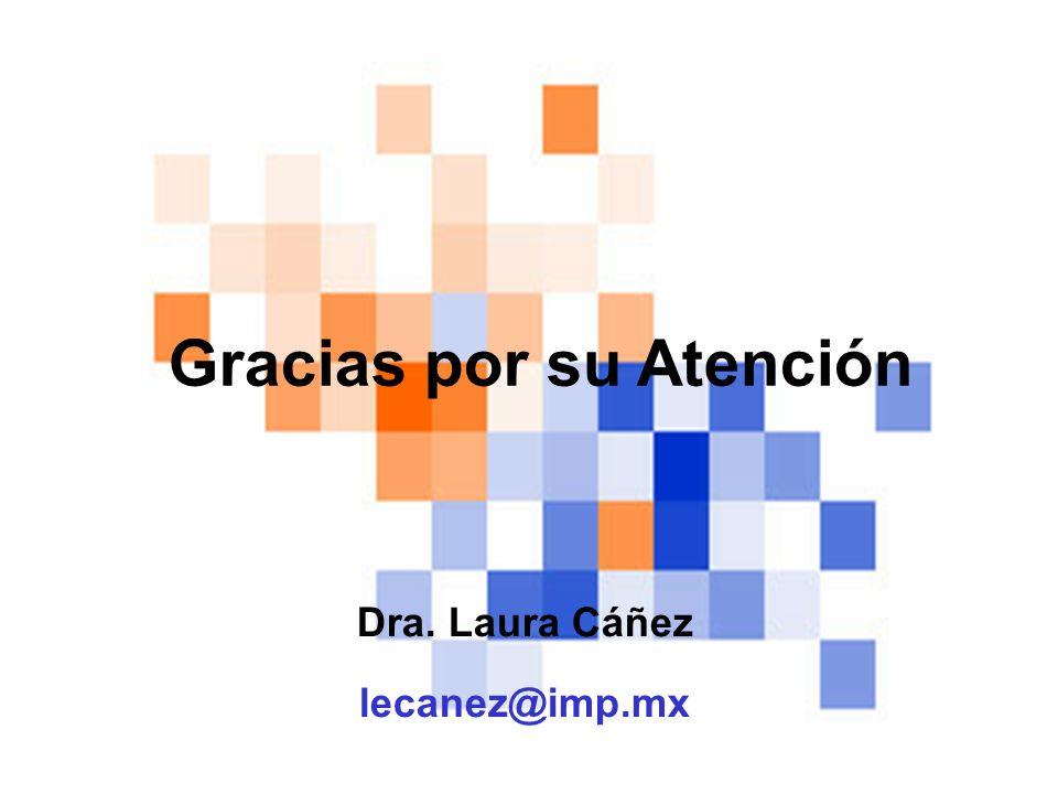 Dra. Laura Cáñez lecanez@imp.mx Gracias por su Atención