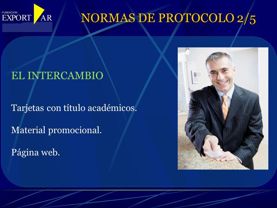 EL INTERCAMBIO Tarjetas con título académicos. Material promocional.