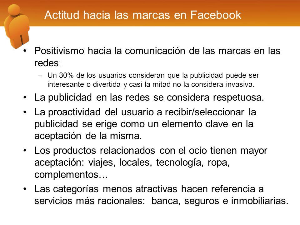 Positivismo hacia la comunicación de las marcas en las redes : –Un 30% de los usuarios consideran que la publicidad puede ser interesante o divertida
