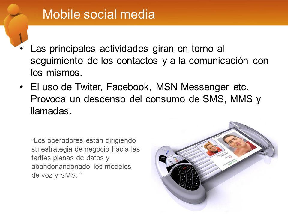 Las principales actividades giran en torno al seguimiento de los contactos y a la comunicación con los mismos. El uso de Twiter, Facebook, MSN Messeng