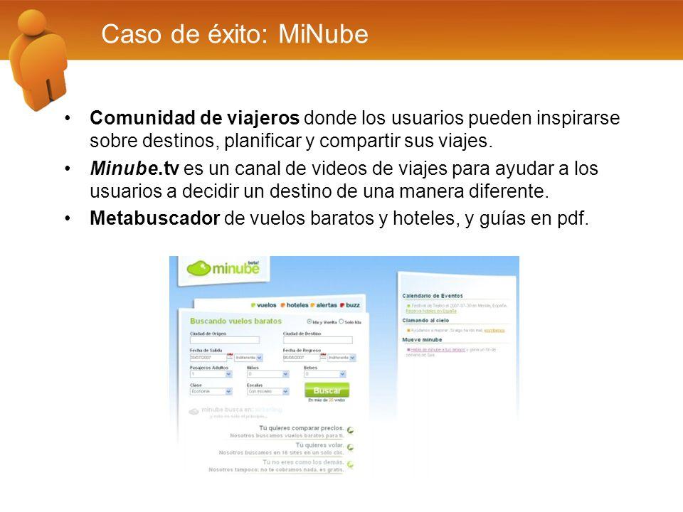 Caso de éxito: MiNube Comunidad de viajeros donde los usuarios pueden inspirarse sobre destinos, planificar y compartir sus viajes. Minube.tv es un ca