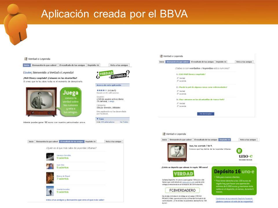 Aplicación creada por el BBVA