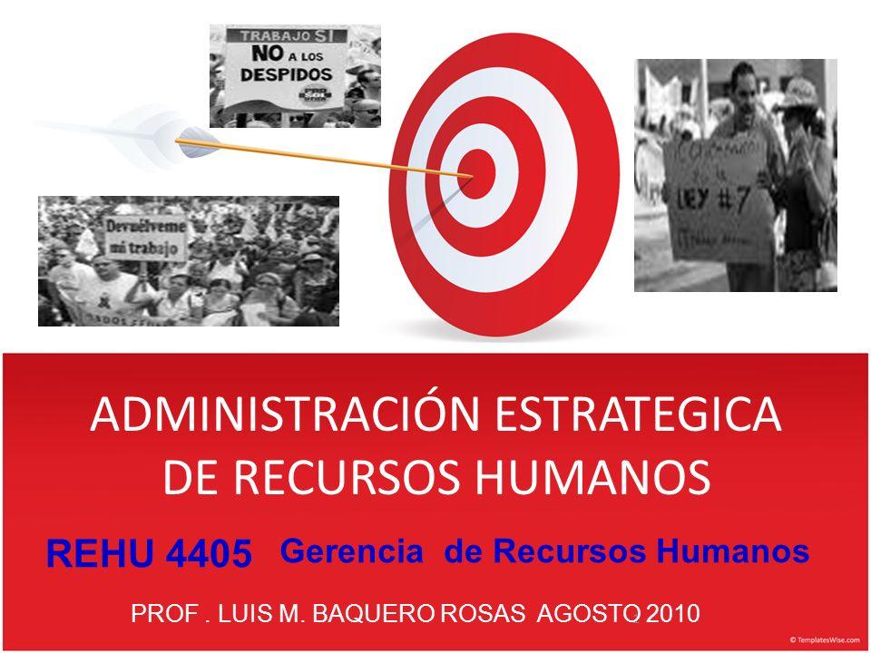 ADMINISTRACIÓN ESTRATEGICA DE RECURSOS HUMANOS 1 PROF.