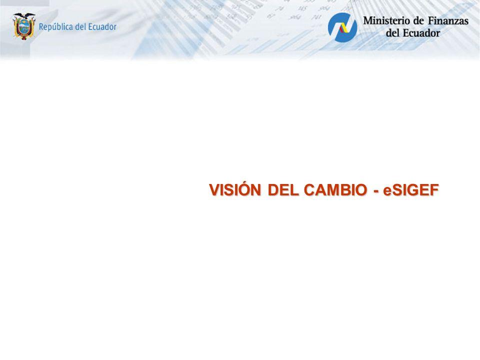 VISIÓN DEL CAMBIO - eSIGEF