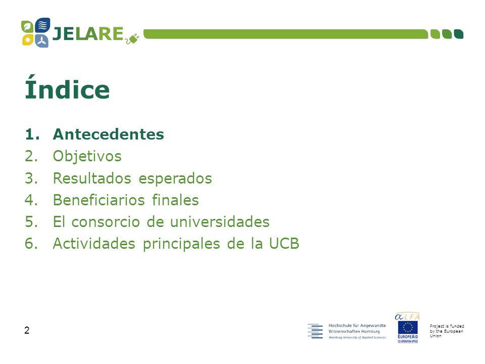 Project is funded by the European Union 13 1.Antecedentes 2.Objetivos 3.Resultados esperados 4.Beneficiarios finales 5.