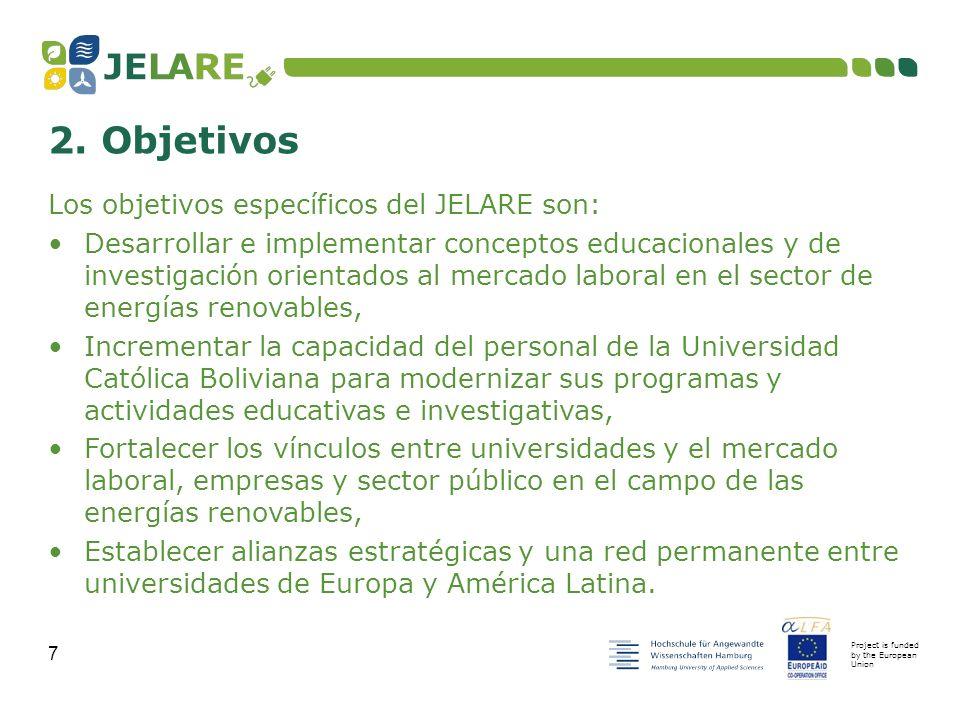 Project is funded by the European Union 8 1.Antecedentes 2.Objetivos 3.Resultados esperados 4.Beneficiarios finales 5.
