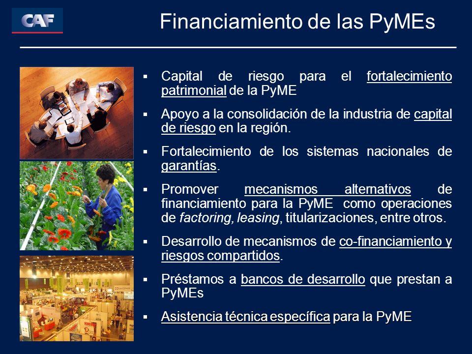 Capital de riesgo para el fortalecimiento patrimonial de la PyME Apoyo a la consolidación de la industria de capital de riesgo en la región.