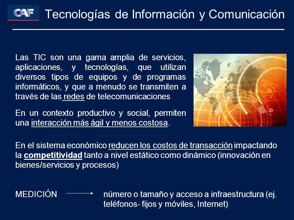 Tecnologías de Información y Comunicación Las TIC son una gama amplia de servicios, aplicaciones, y tecnologías, que utilizan diversos tipos de equipos y de programas informáticos, y que a menudo se transmiten a través de las redes de telecomunicaciones En un contexto productivo y social, permiten una interacción más ágil y menos costosa.