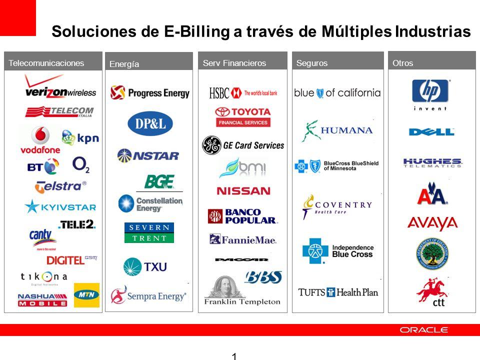 12 Telecomunicaciones Energía Serv FinancierosSeguros Soluciones de E-Billing a través de Múltiples Industrias Otros
