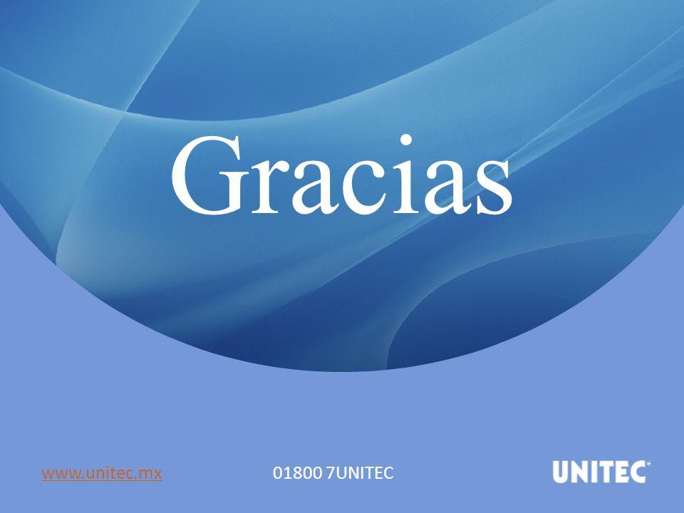 Gracias www.unitec.mxwww.unitec.mx 01800 7UNITEC