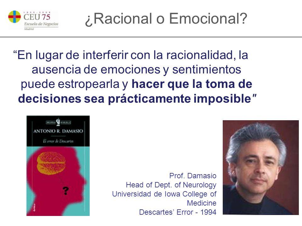 ¿Racional o Emocional.