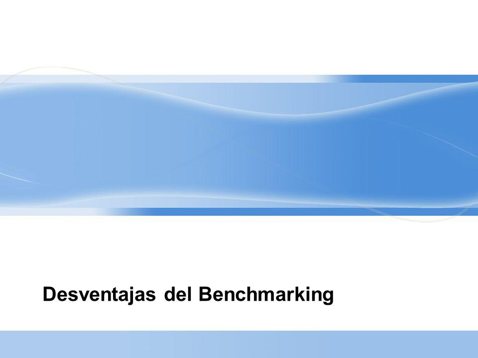 Desventajas del Benchmarking