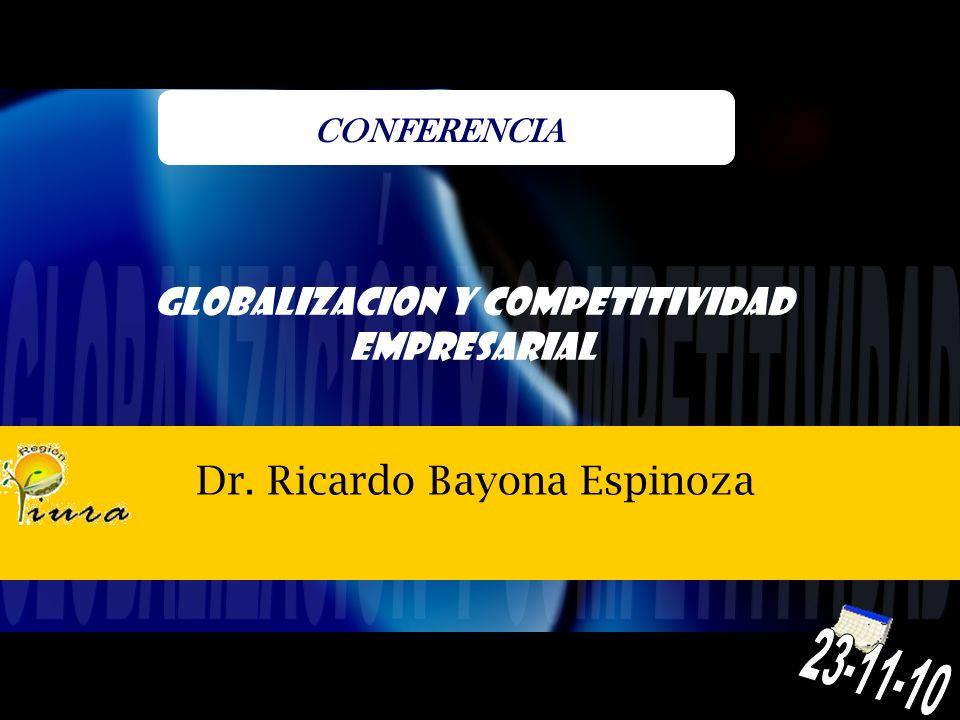Dr. Ricardo Bayona Espinoza CONFERENCIA GLOBALIZACION Y COMPETITIVIDAD EMPRESARIAL