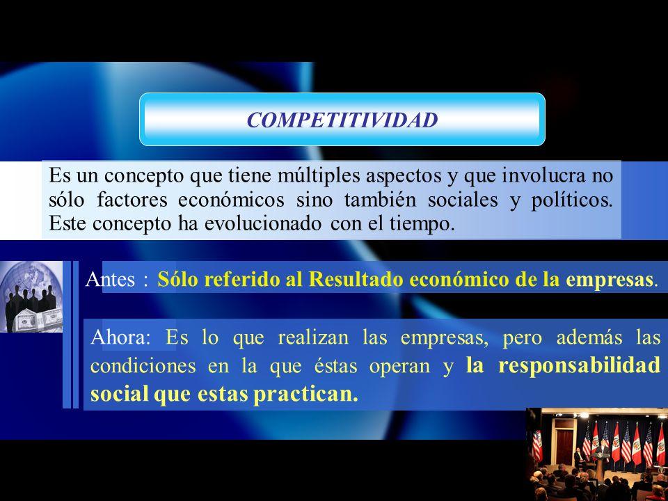 Es un concepto que tiene múltiples aspectos y que involucra no sólo factores económicos sino también sociales y políticos.