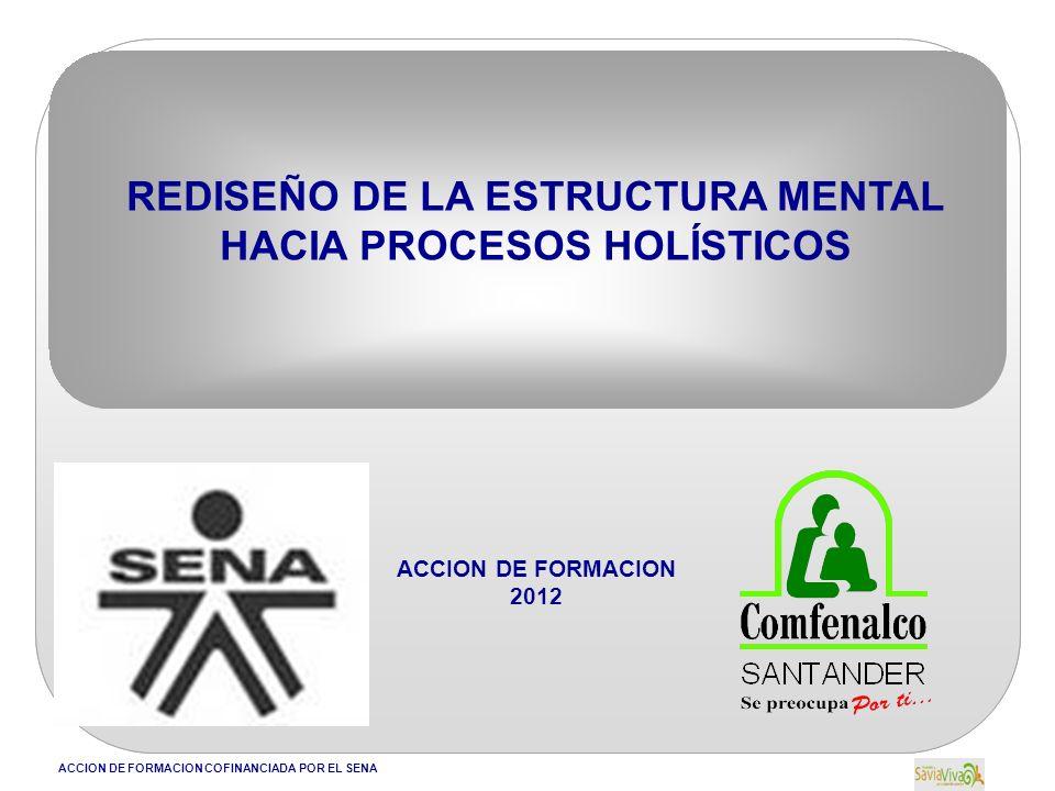 ACCION DE FORMACION COFINANCIADA POR EL SENA REDISEÑO DE LA ESTRUCTURA MENTAL HACIA PROCESOS HOLÍSTICOS ACCION DE FORMACION 2012