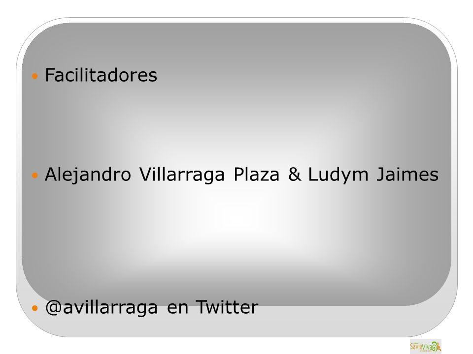 Facilitadores Alejandro Villarraga Plaza & Ludym Jaimes @avillarraga en Twitter
