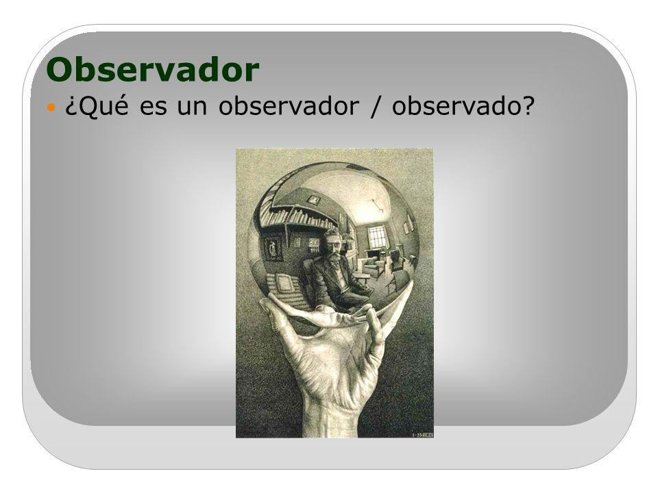 Observador ¿Qué es un observador / observado