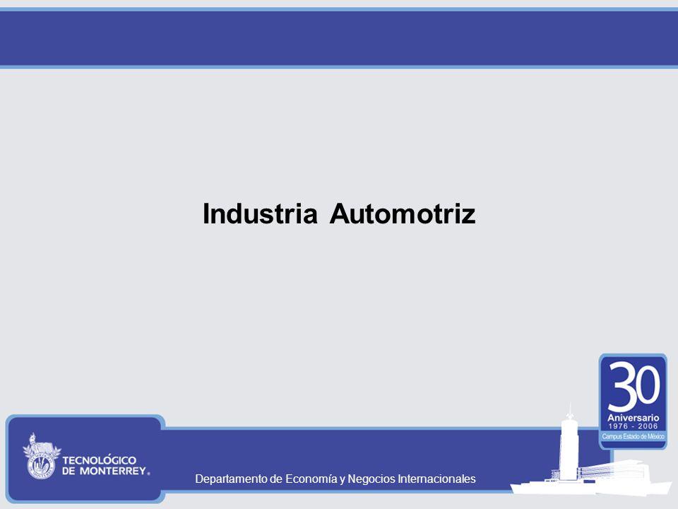 Departamento de Economía y Negocios Internacionales Industria Automotriz