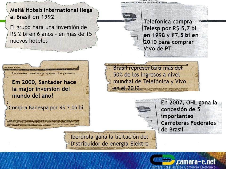 10 Em 2000, Santader hace la major inversión del mundo del año.