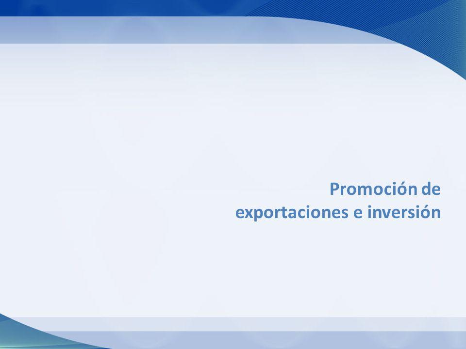 Promoción de exportaciones e inversión