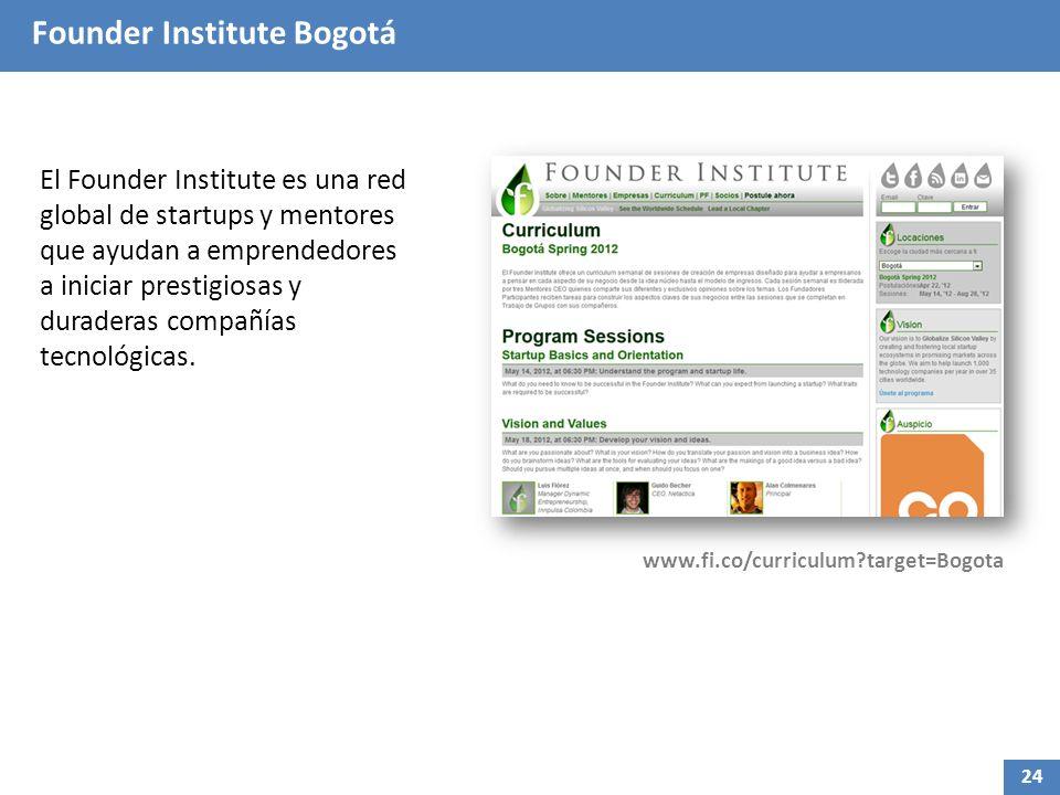 Founder Institute Bogotá El Founder Institute es una red global de startups y mentores que ayudan a emprendedores a iniciar prestigiosas y duraderas c