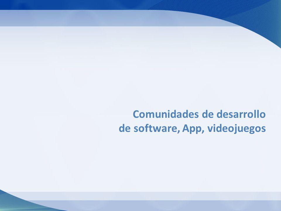 Comunidades de desarrollo de software, App, videojuegos