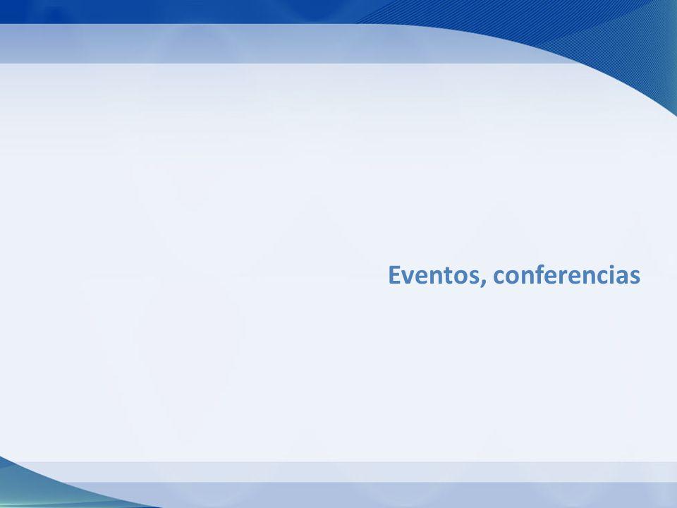 Eventos, conferencias