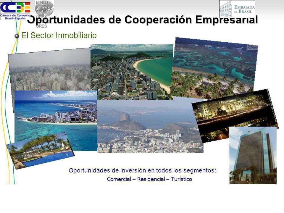 MINISTE RIO DE RELACI ONES EXTERI ORES Oportunidades de inversión en todos los segmentos: Comercial – Residencial – Turístico El Sector Inmobiliario Oportunidades de Cooperación Empresarial