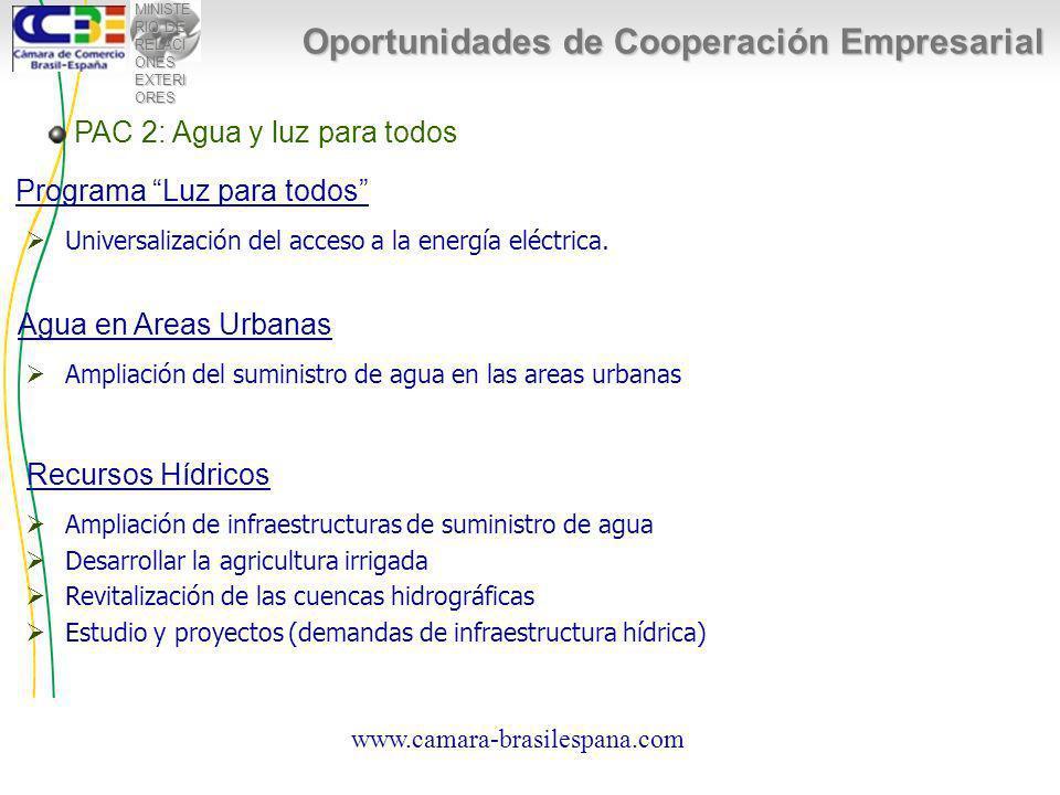MINISTE RIO DE RELACI ONES EXTERI ORES Oportunidades de Cooperación Empresarial Universalización del acceso a la energía eléctrica.