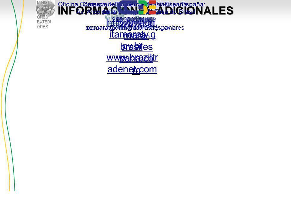 MINISTE RIO DE RELACI ONES EXTERI ORES INFORMACIONES ADICIONALES http://madri.
