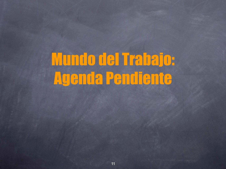 Mundo del Trabajo: Agenda Pendiente 11