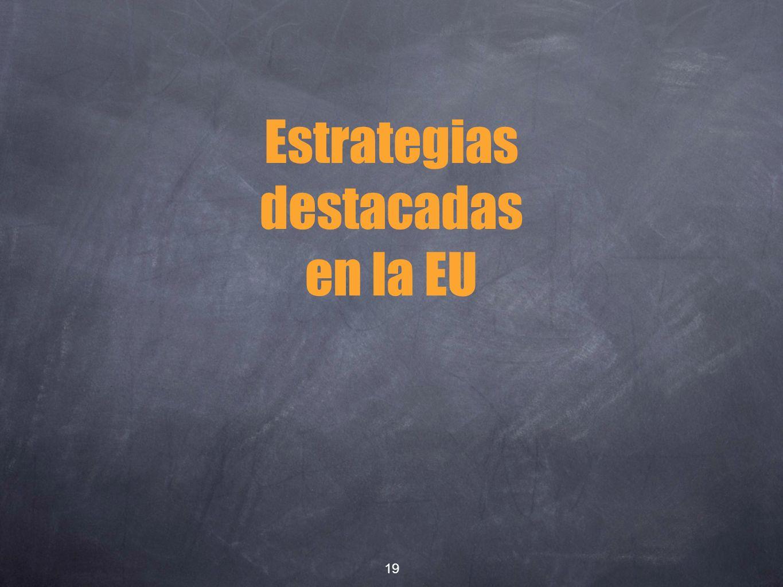 Estrategias destacadas en la EU 19