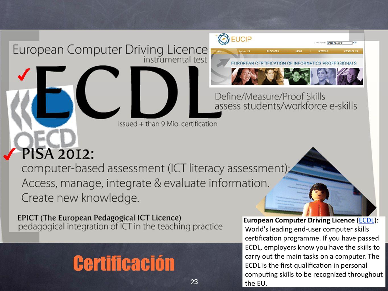 Certificación 23
