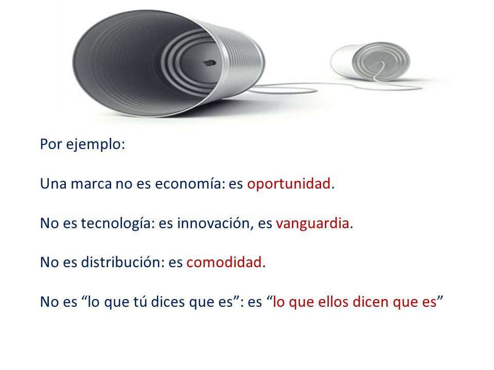 Por ejemplo: Una marca no es economía: es oportunidad.