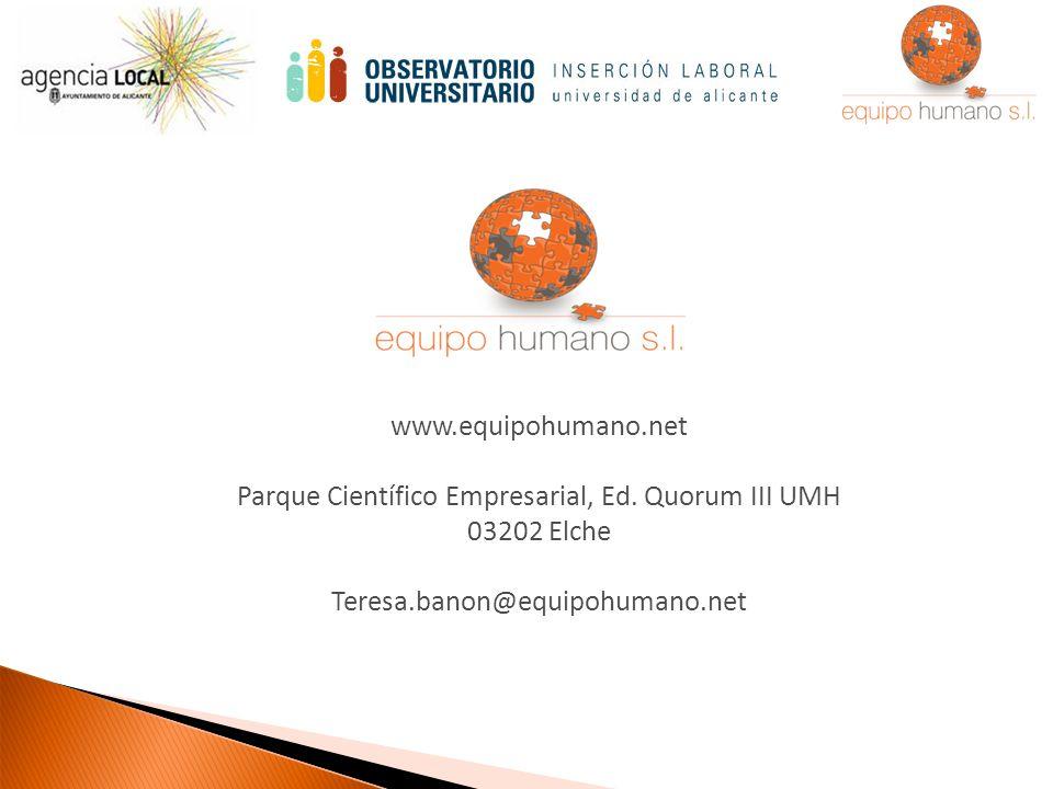 www.equipohumano.net Parque Científico Empresarial, Ed.
