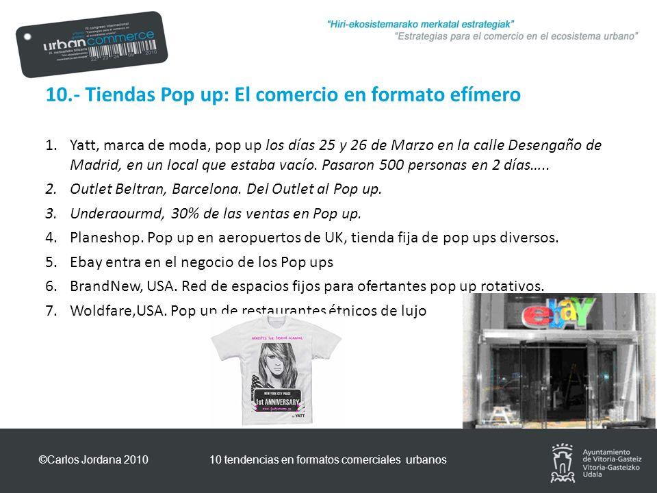 10.- Tiendas Pop up: El comercio en formato efímero 1.Yatt, marca de moda, pop up los días 25 y 26 de Marzo en la calle Desengaño de Madrid, en un local que estaba vacío.