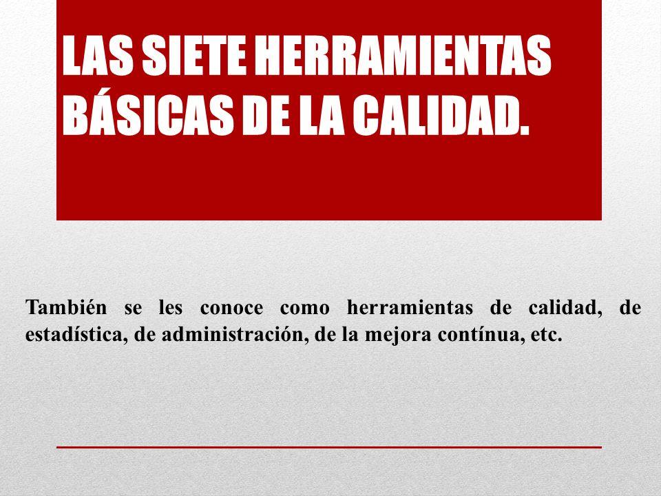 LAS SIETE HERRAMIENTAS BÁSICAS DE LA CALIDAD.