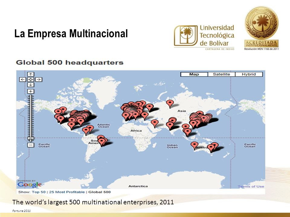 The worlds largest 500 multinational enterprises, 2011 Fortune 2011 La Empresa Multinacional