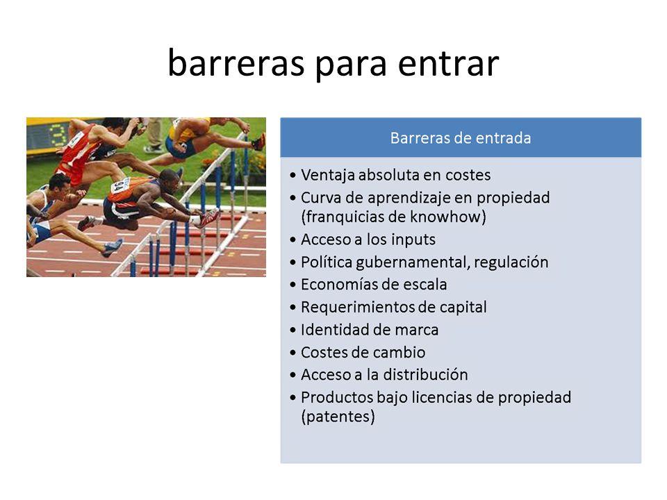 barreras para entrar