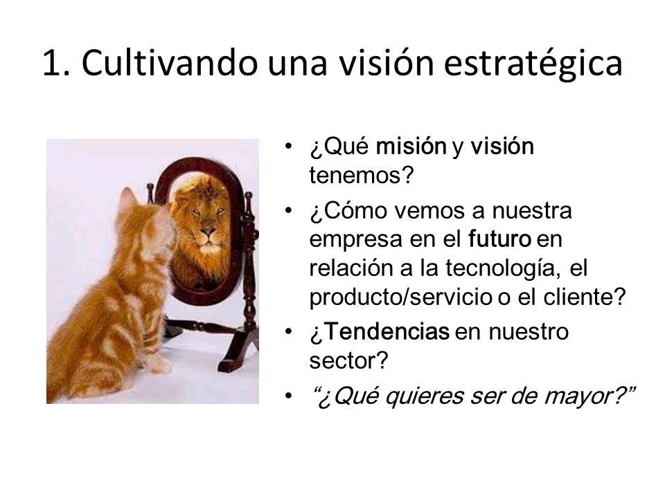 1. Cultivando una visión estratégica ¿Qué misión y visión tenemos.