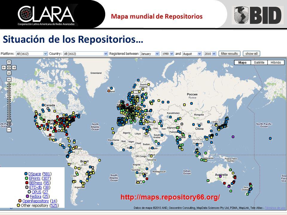 http://maps.repository66.org/ Mapa mundial de Repositorios Situación de los Repositorios…