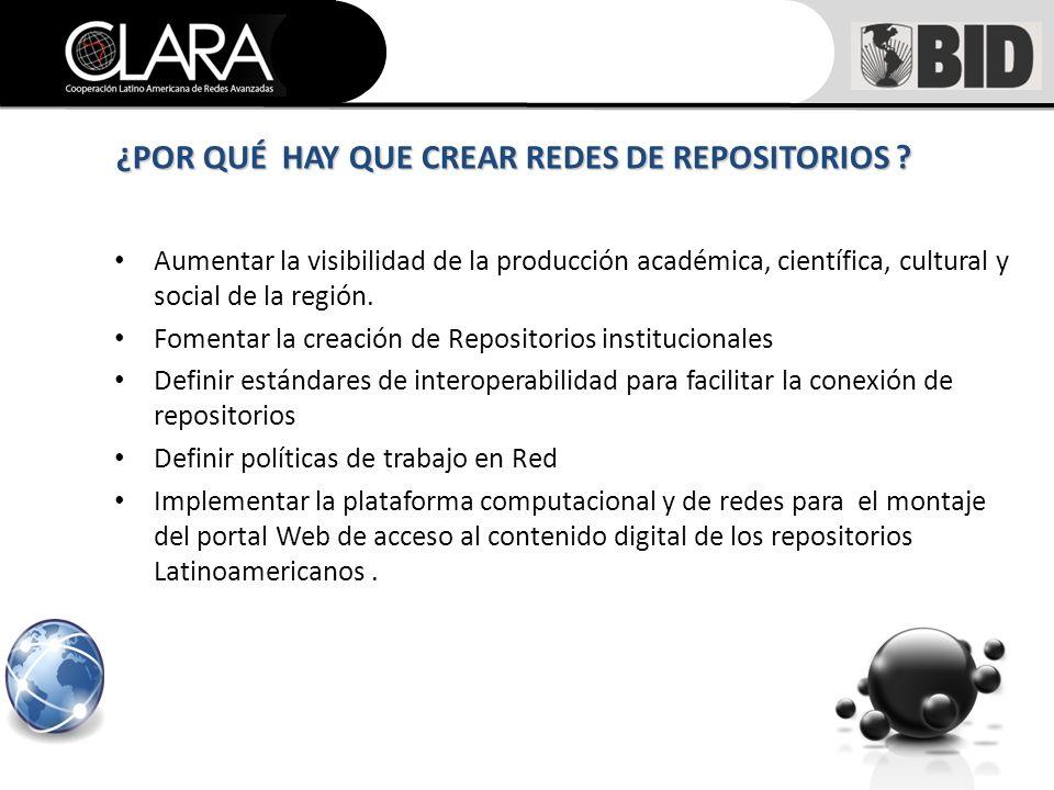 Aumentar la visibilidad de la producción académica, científica, cultural y social de la región.