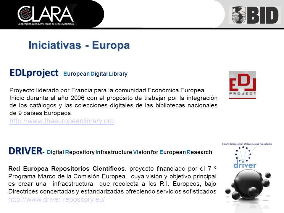 EDLproject EDLproject - European Digital Library Proyecto liderado por Francia para la comunidad Económica Europea.