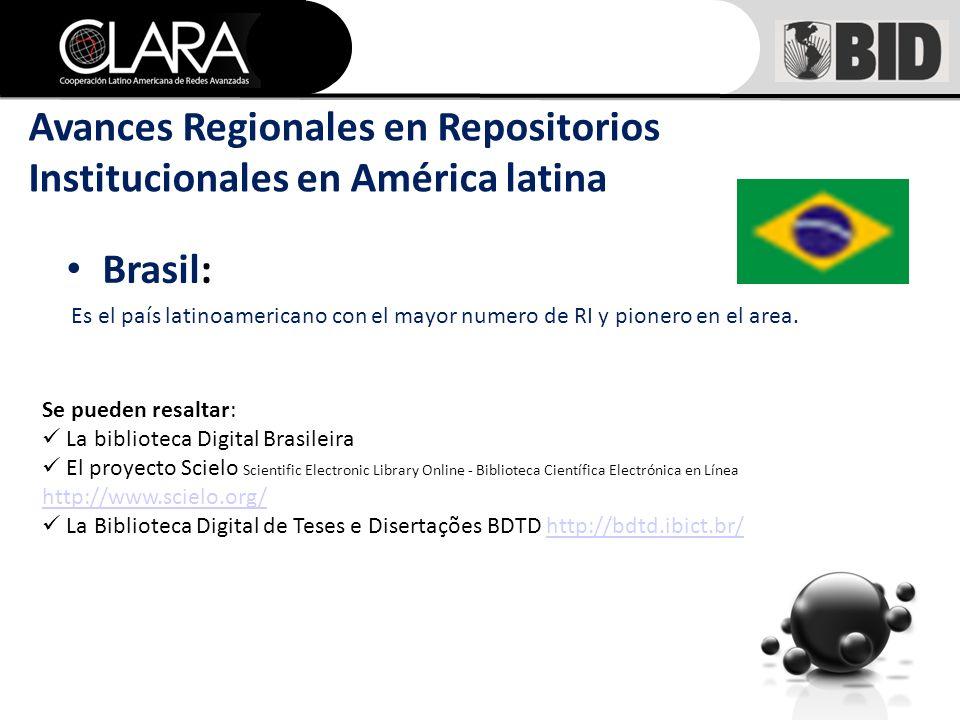 Brasil: Es el país latinoamericano con el mayor numero de RI y pionero en el area.